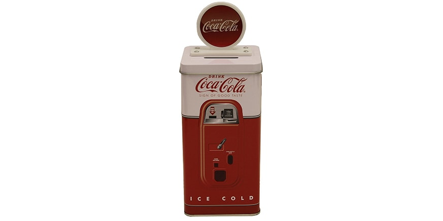 The Tin Box Company Coca Cola Tall Beverage Machine Bank
