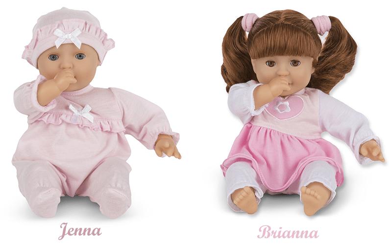 Jenna and Brianna dolls
