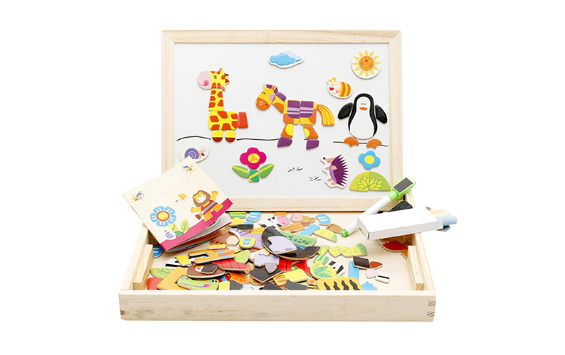 Lewo Wooden Educational Magnetic Animals
