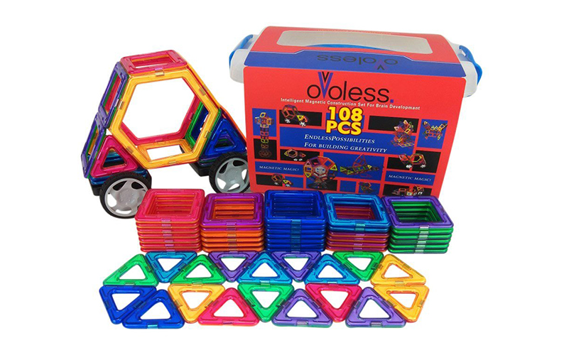 magnetic building blocks toy set