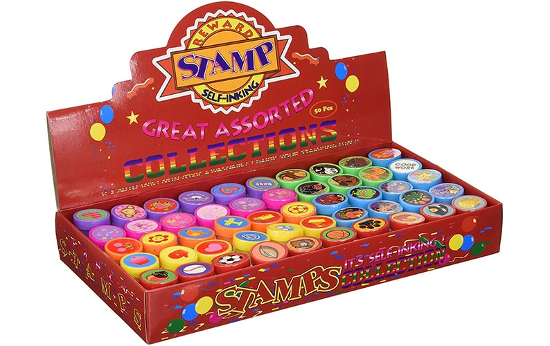 50 Pcs Assorted Stampers for Kids