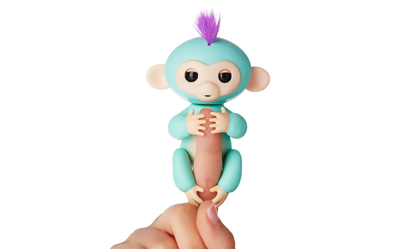 Fingerlings Interactive Monkey Turquoise Purple toy