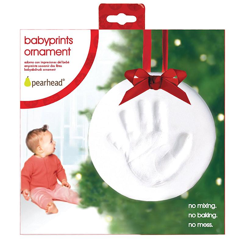 Babyprints Baby Handprint or Footprint Keepsake Ornament