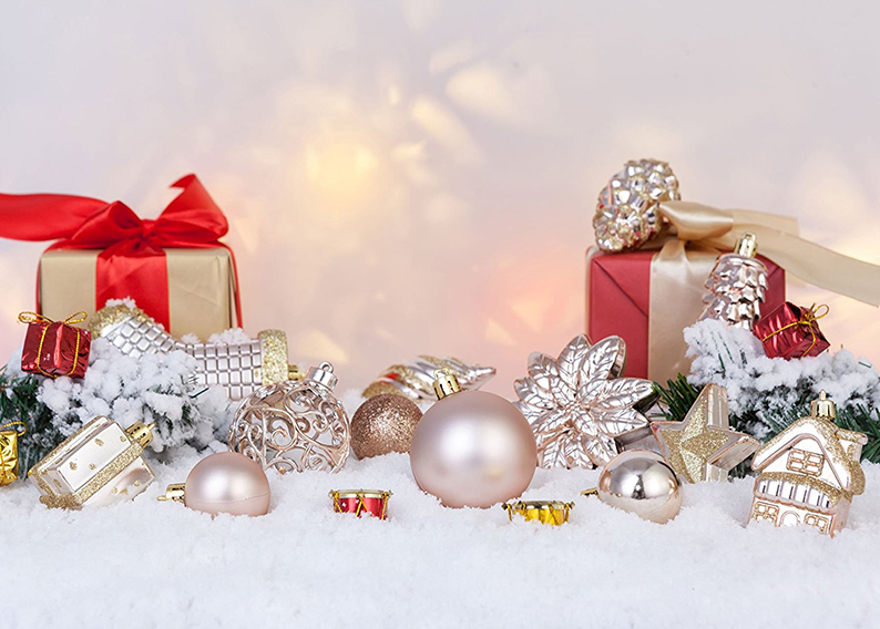 Christmas Ball Assorted Pendant Shatterproof Ball Ornament Set Seasonal Decorations