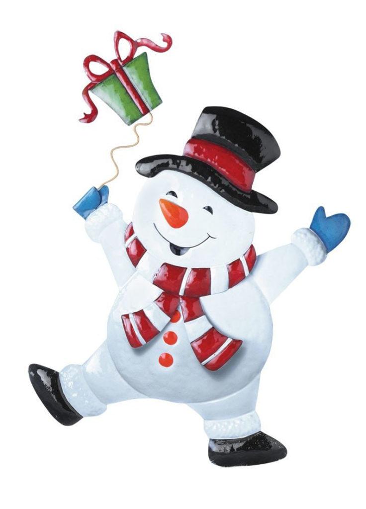 Christmas Cheerful Character Garden Décor Yard Stake Snowman