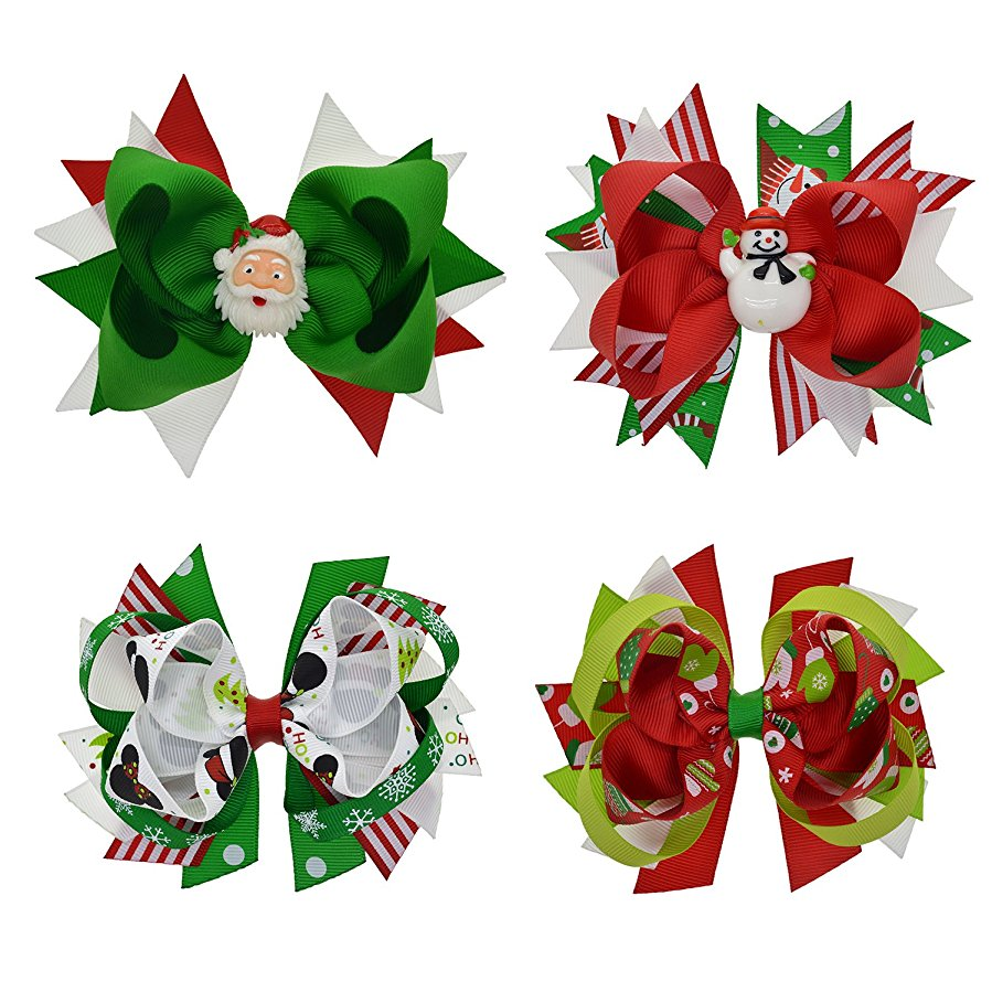 Christmas Grosgrain Ribbon Bows