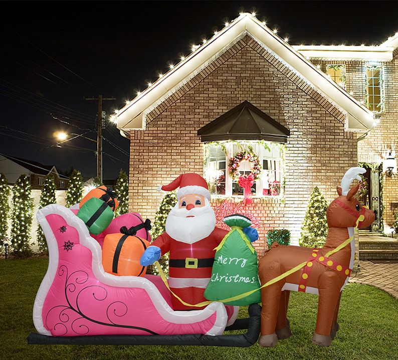 Christmas Lighted Blow Up Yard Party Decoration