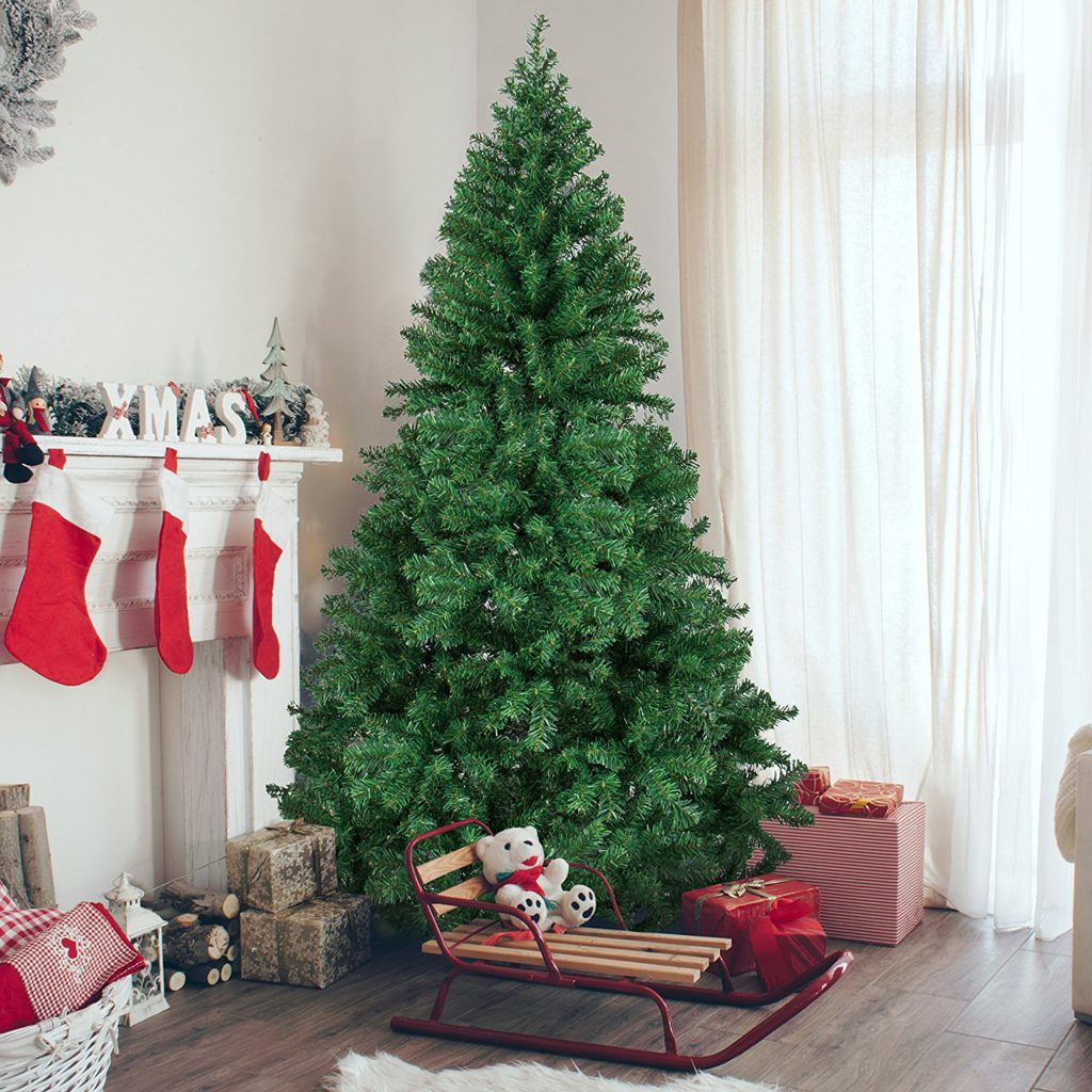 Christmas Pine Tree With Solid Metal Legs