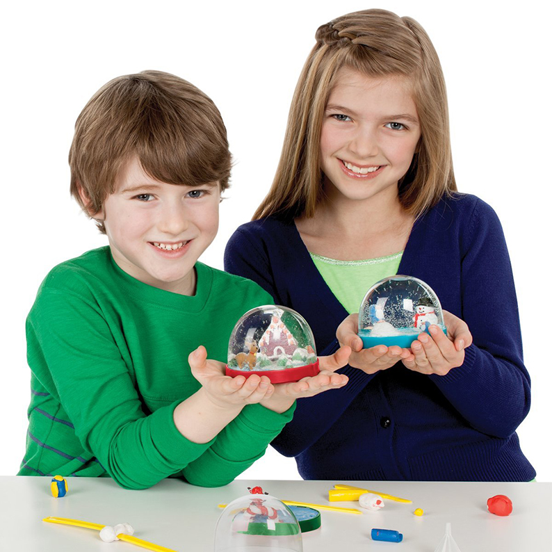 Kids Make Your Own Holiday Snow Globes