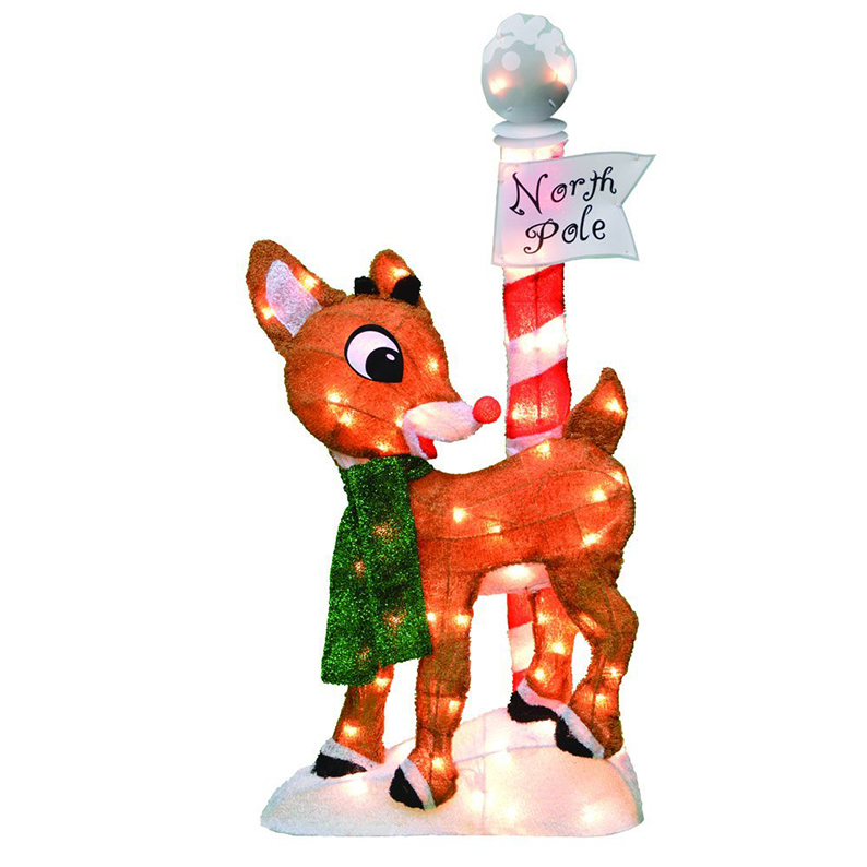 Red Nosed Reindeer Christmas Yard Decoration