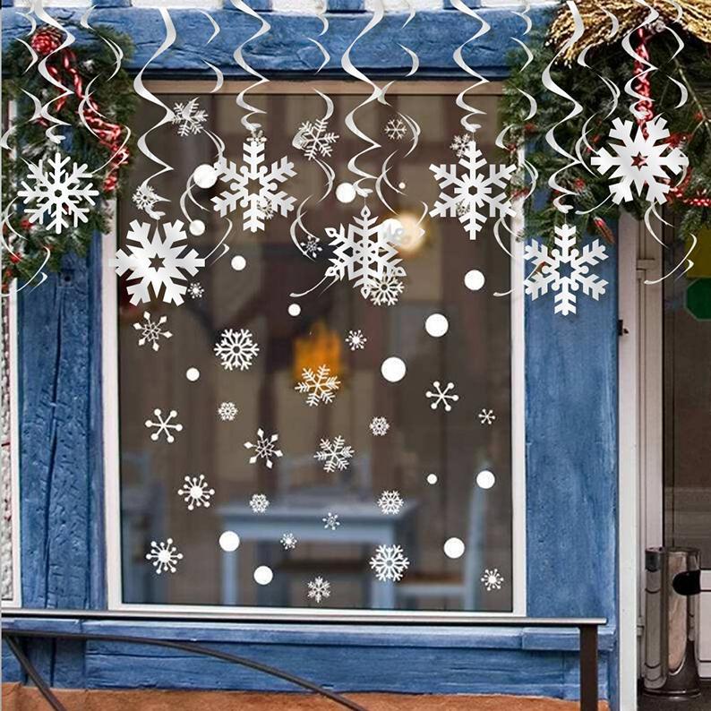Snowflake Hanging Swirls for Christmas