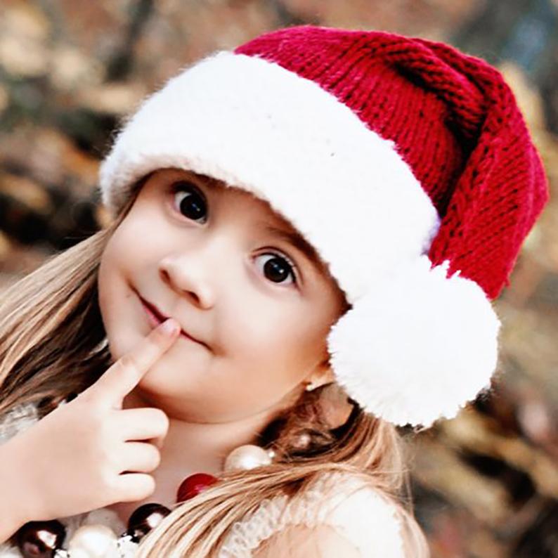 Snowy Santa Baby Toddler & Adult Family Santa Hat
