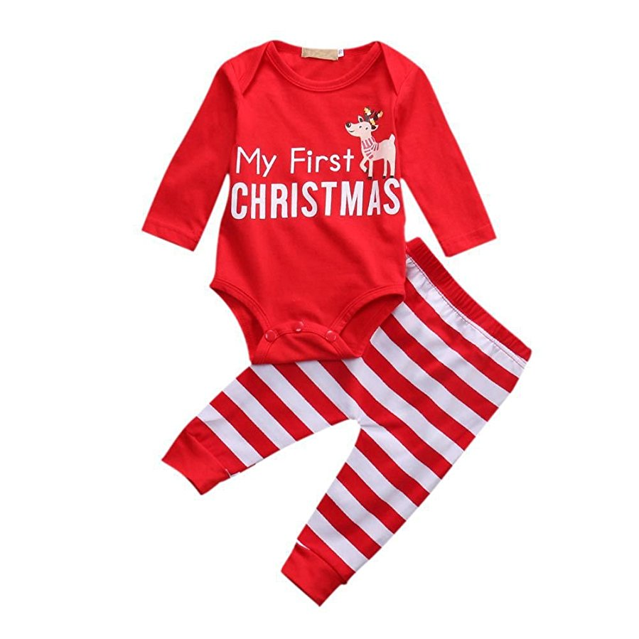 Xmas Outfits for Newborn Baby Girls Boys
