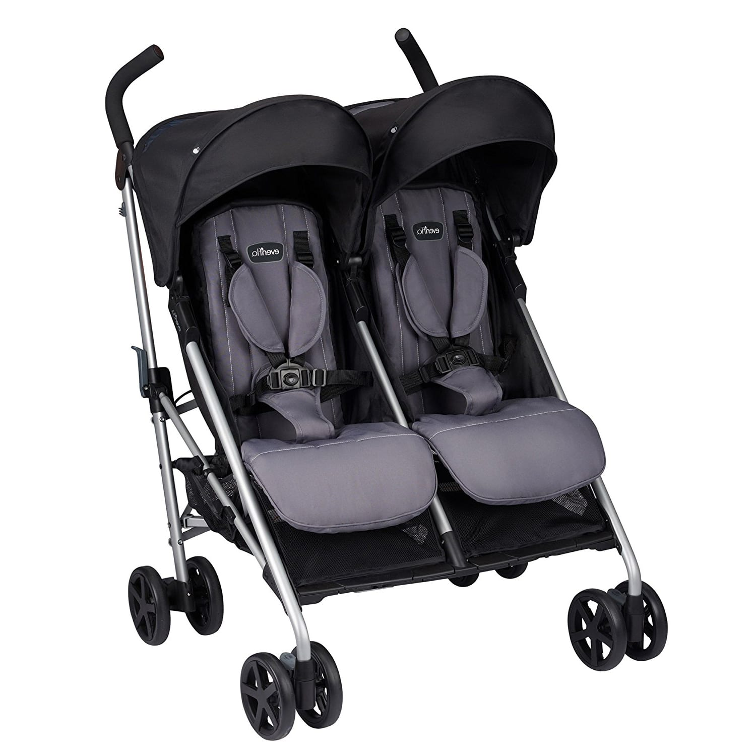 Evenflo Minno Twin Double Stroller Grey