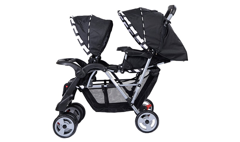 Costzon Double Stroller Infant Baby Pushchair Convenience Twin Seat