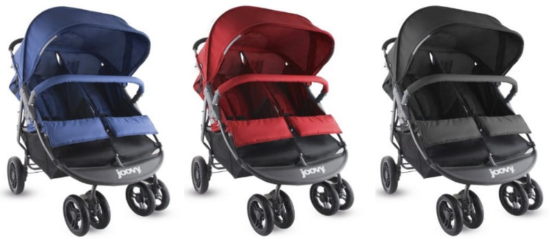 Joovy Scooter X2 Double Stroller - black, blue and ed