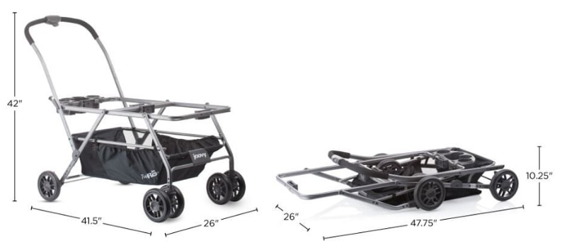 Joovy Twin Roo Plus dimensions and folding