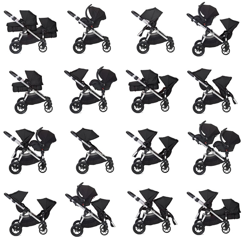 Multifunctional seats Baby Jogger double stroller