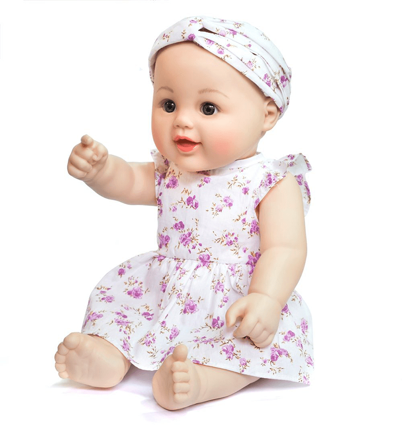 Baby Doll Mia with Adorable Clothes Vinyl Body