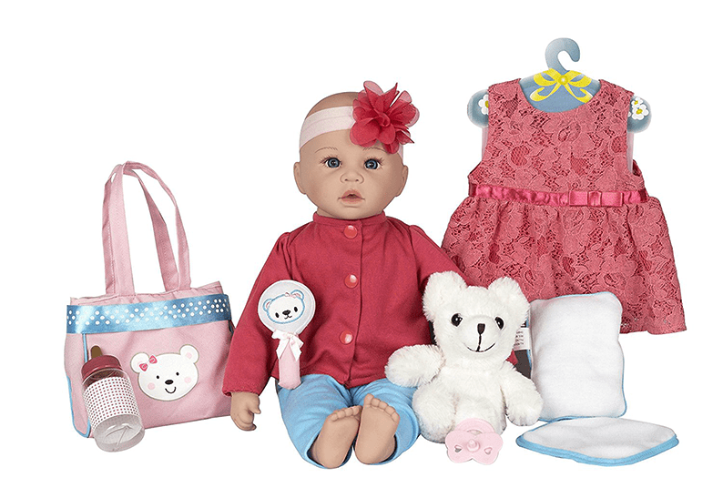 Baby Doll Playset Plush Teddy Bear