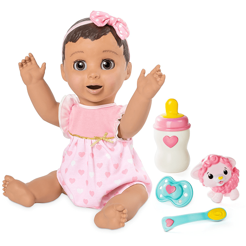 Brunette Hair Responsive Baby Doll with Realistic Expressions and Movement