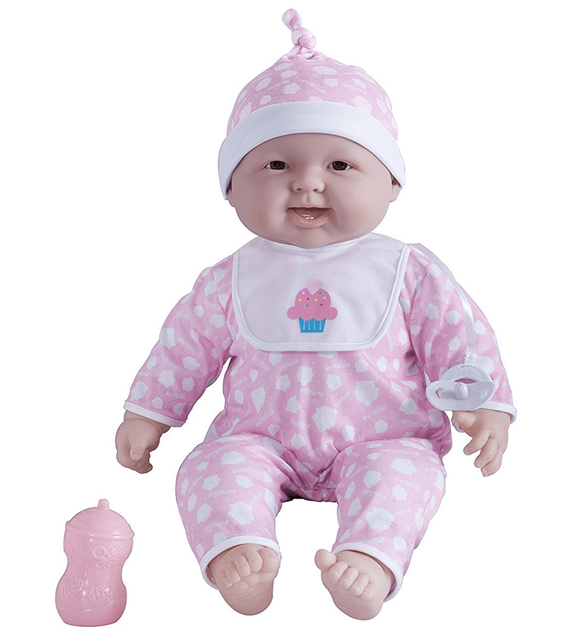 Pink Soft Body Baby Doll and Accessories