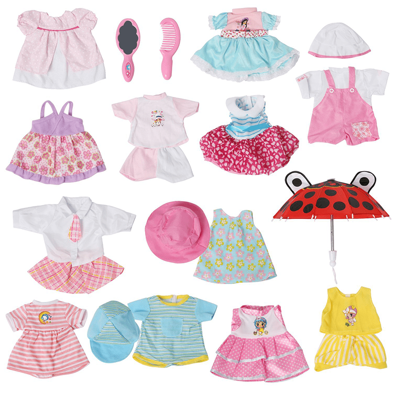 Set of 12 Handmade Baby Doll Clothes Dress Outfits Costumes