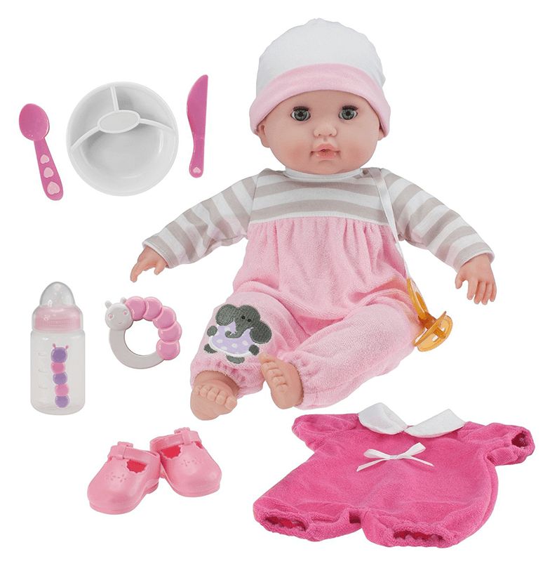 Soft Body Baby Doll Pink 10 Piece Gift Set