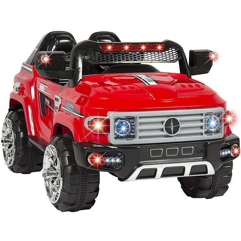 1add83eb7 Kids Ride On Truck Car Remote Control 2 Speeds LED Lights MP3 AUX Cord min